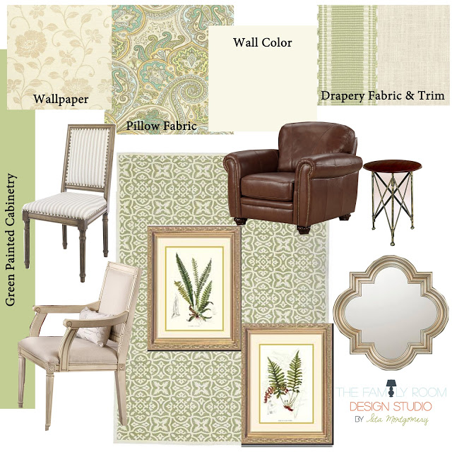 Client Project: Traditional Den – Design Board
