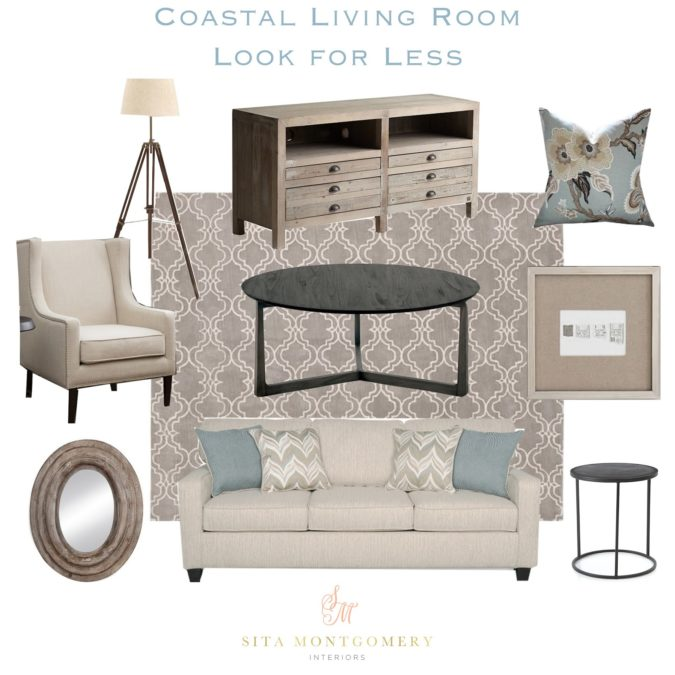 Coastal Living Room Look 4 Less