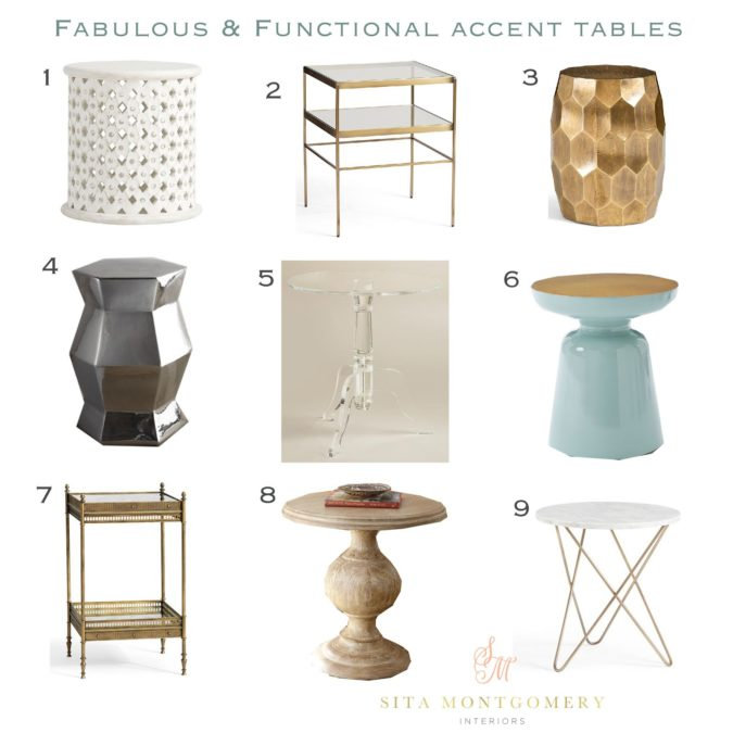 Fabulous and Functional Accent Tables Roundup