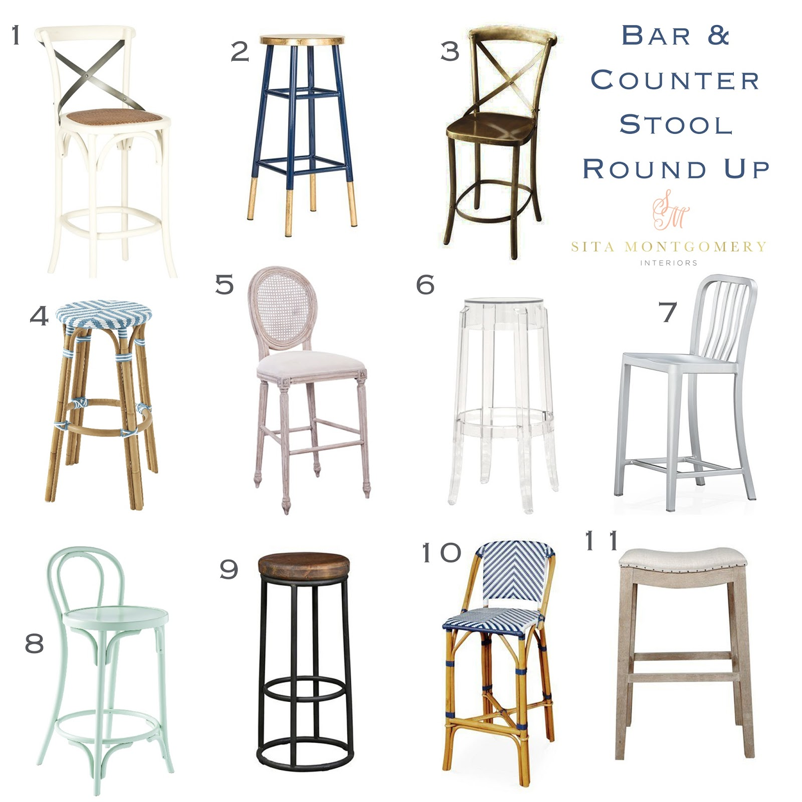 Bar and Counter Stool Round Up Sita Montgomery Interiors : stool round up from sitamontgomeryinteriors.com size 1600 x 1600 jpeg 249kB