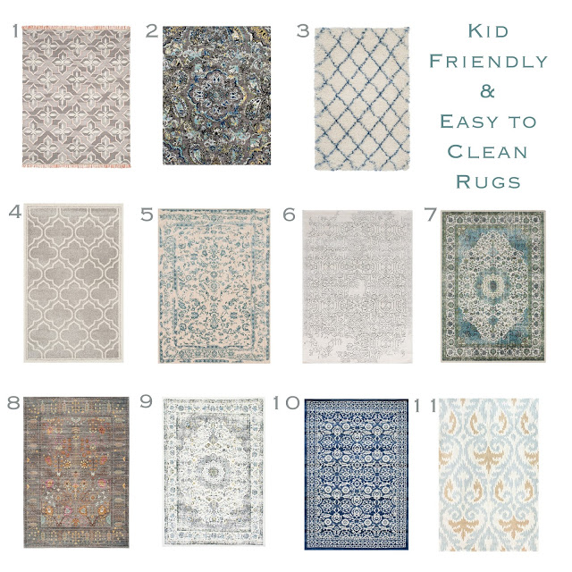 Kid Friendly Rug Round Up