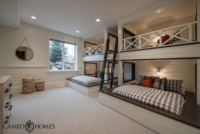 Sita Montgomery Interiors: The New Fork Project Bunk Room and Bathroom