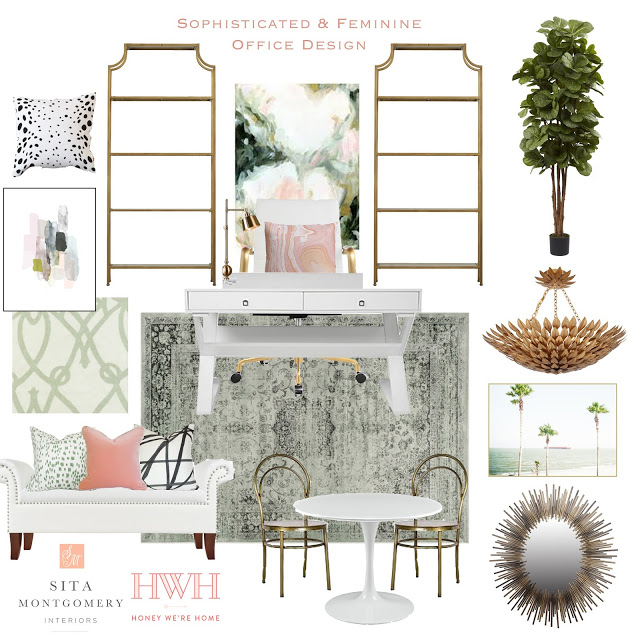Sophisticated and Feminine Office Design Board