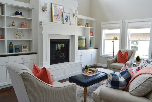 Client Project Reveal: Pretty and Polished Family Room