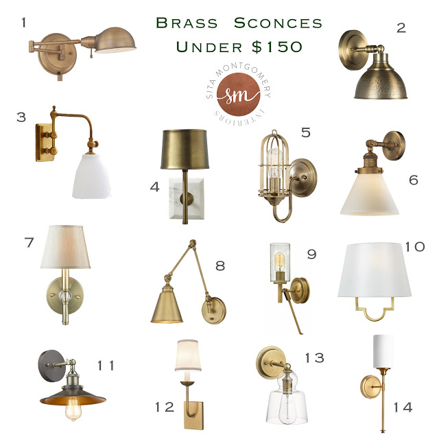 Brass Wall Sconces Under $150