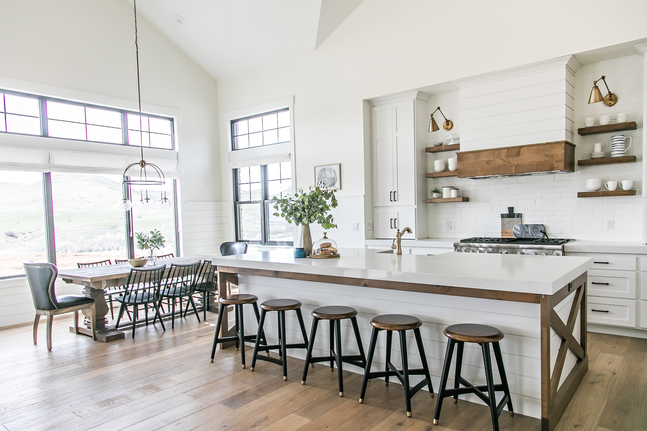 also be sure to check out my post on the smi modern farmhouse entry and family room if you missed it - Modern Farmhouse Kitchen